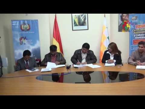 SALUD EN BOLIVIA - FIRMA CONVENIO ENTRE FAM Y MIN.SALUD  DEPORTES - BJA
