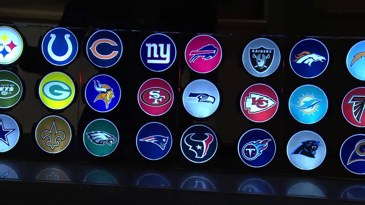 NFL Motion Activated Light Up Decals by Lori Greiner with