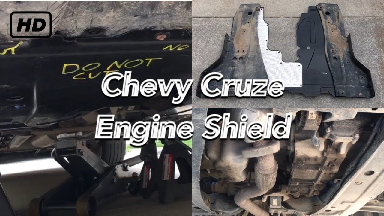 Chevy Cruze engine splash guard replacement - YouTube