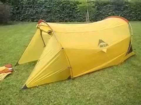 carpa msr (mountain safety research) skinny too tent & carpa msr (mountain safety research) skinny too tent - YouTube