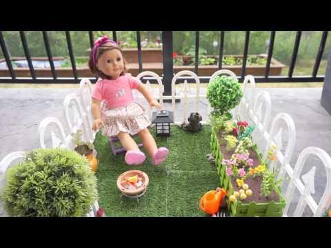DIY American Girl Doll Garden