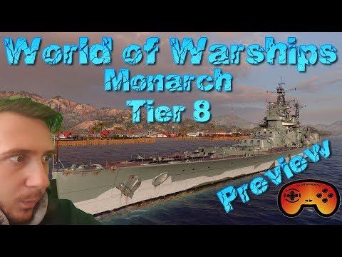 """Briten Tier 8 """"Monarch"""" Preview/Gameplay - World of Warships - Britische BBs - Deutsch/German"""