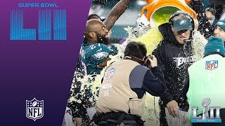 Philly's Celebration After Final Play & the Gatorade Shower! | Eagles vs. Patriots | Super Bowl LII