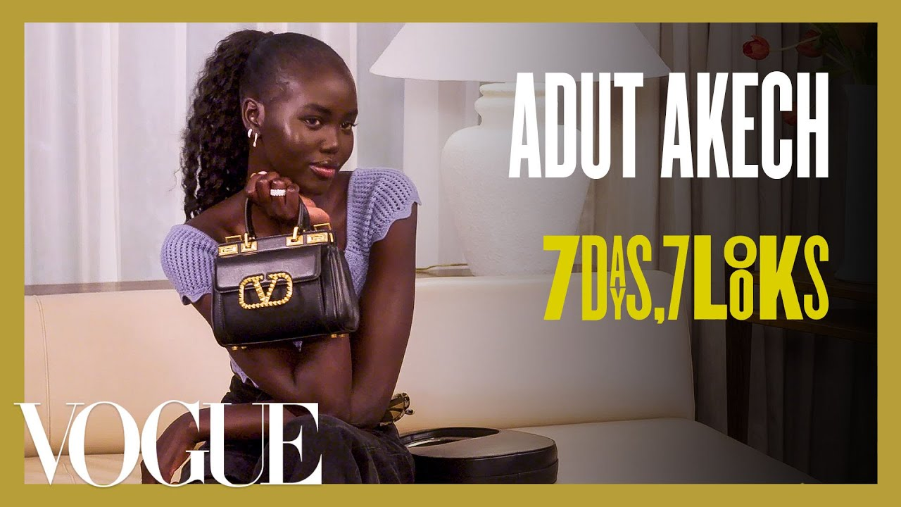 Every Outfit Adut Akech Wears in a Week | 7 Days, 7 Looks | Vogue