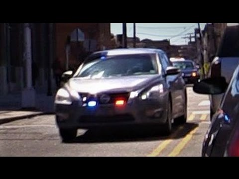 Gray Unmarked Police Unit Responding in Jersey City, NJ