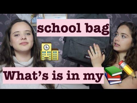 What's in my school bag?