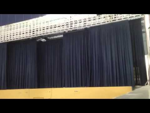 3 Layers Motorized Stage Curtains