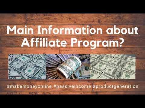 Main Information about Affiliate Program? (Make Money Online) thumbnail