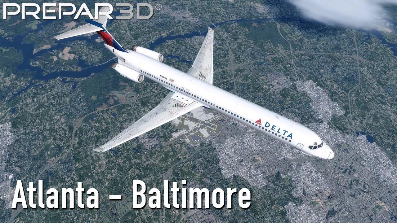 Prepar3D v4 3 | Atlanta (KATL) - Baltimore (KBWI) | Leonardo
