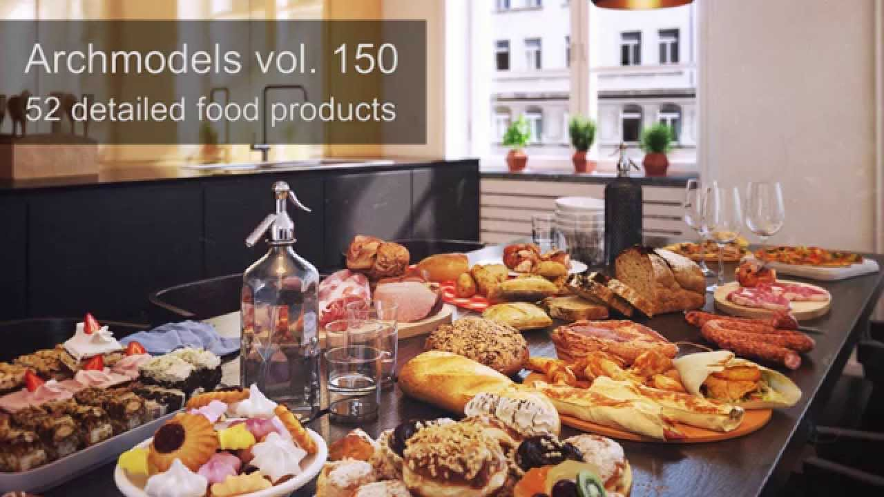 Archmodels vol  150 - 3d-scanned and optimized food