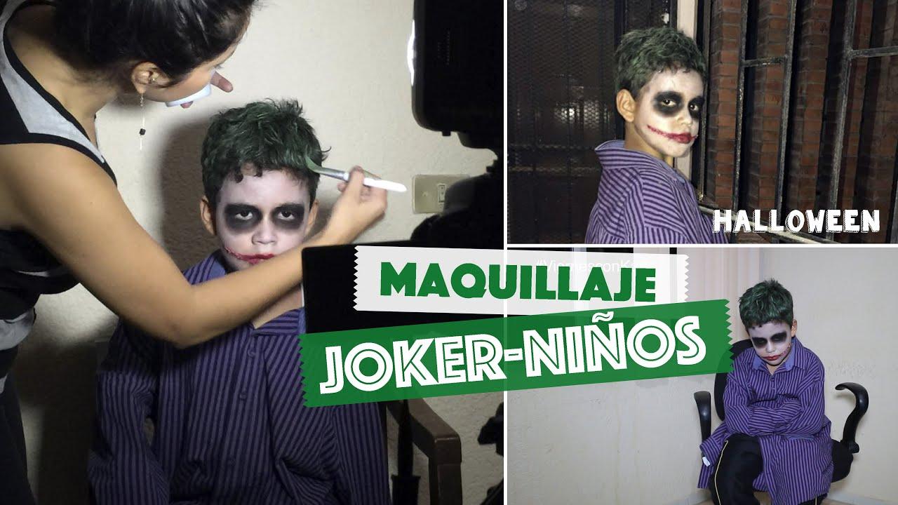 Maquillaje Joker / Guasón para Niños Fácil - Halloween ...