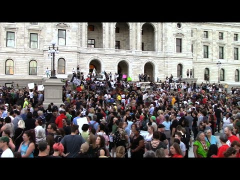 philando castile protest after officer acquittal | st paul 2017-06-16