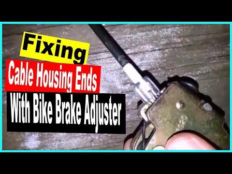 Fix broken cable with bicycle brake adjuster - ford car truck van door won't open - stuck latch