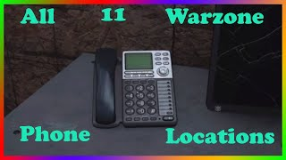 All 11 Locations Of Warzone Phone Locations Found (Cod MW Easter EGG)