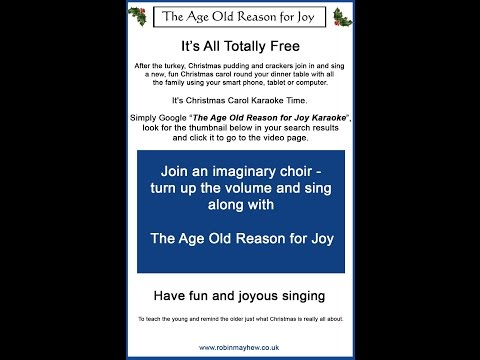 The Age Old Reason for Joy Karaoke simulated choir and lyric Click Show More for lyric sheet