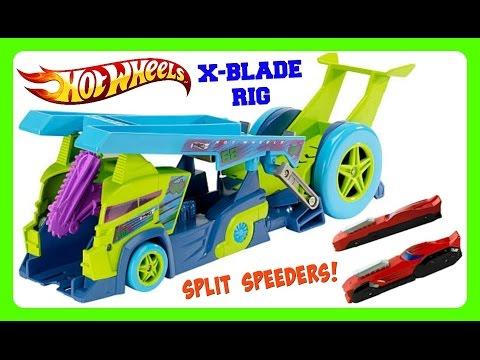 HOT WHEELS X Blade Rig Split Speeders TOY!  Load, Split, & Launch Split Speeders! NEW 2016 HOT WHEEL