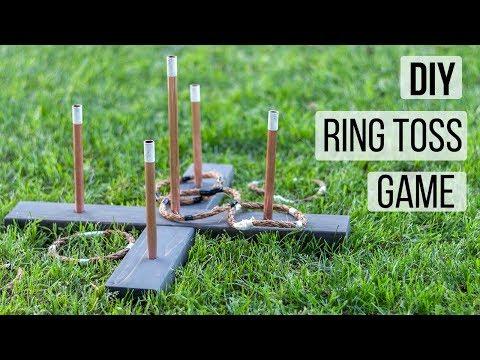 Easy DIY Ring Toss Game - Outdoor game idea- Anika's DIY Life