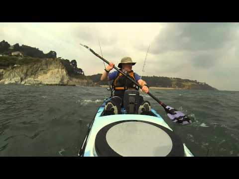 Kayak Fishing From Blackpool Sands, Devon