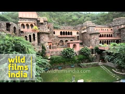 Stunning aerial view from overflight of Neemrana Fort, Rajasthan