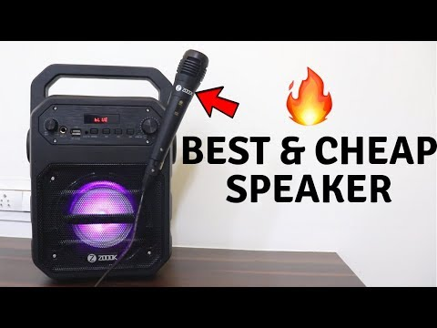 Best Budget Speaker with Karaoke mic  | Zoook Rocker Thunder Unboxing | Tech Unboxing 🔥