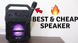 Best Budget Speaker with Karaoke mic | Zoook Rocker Thunder Unboxing | Tech Unboxing
