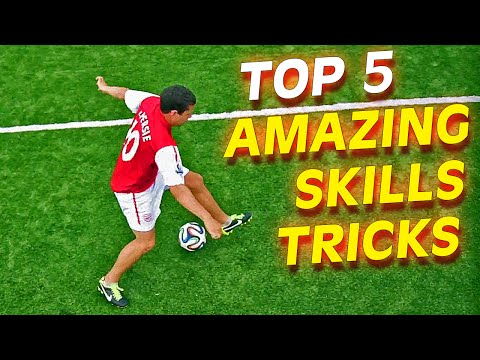 TOP 5 Insane Football Soccer Skills To Learn Tutorial