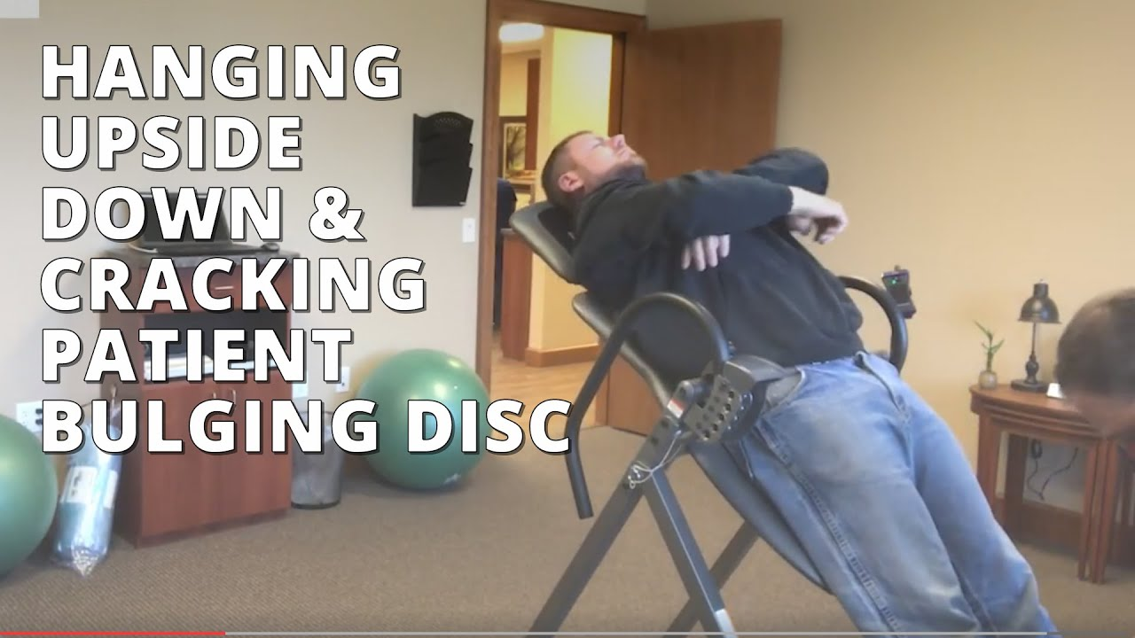 Hanging Upside Down Chair For Back How To Repair Tear In Leather Cracking Patient Bulging Disc Pain Seattle Chiropractor Dr David Warwick