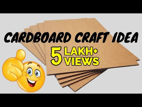 Beautiful Home Decor From Waste Cardboard | Simple DIY Ideas For Room / Wall Decor