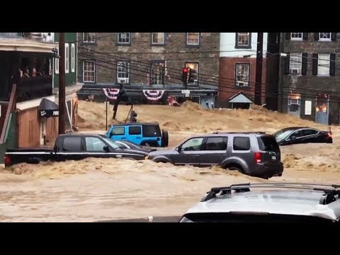 Maryland flooding: Ellicott City street turns into raging river