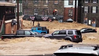 Flash flooding in the Baltimore suburb of Ellicott City, Maryland, From YouTubeVideos