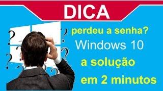 BURLAR A SENHA DO WINDOWS 10 FACIL