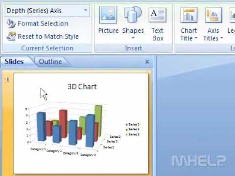 How to change the scale of depth series axis for  chart in presentation also rh youtube