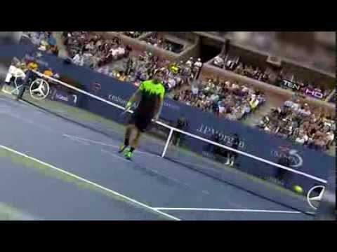Roger Federer Hits Matosevic with a Tweener, Michael Jordan Laughs