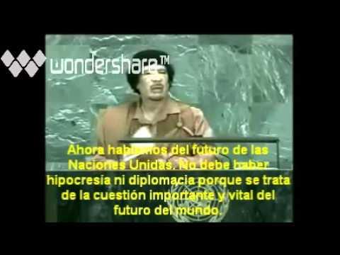 Discurso de Muammar Al-Gaddafi - ONU 2011 subtitulos