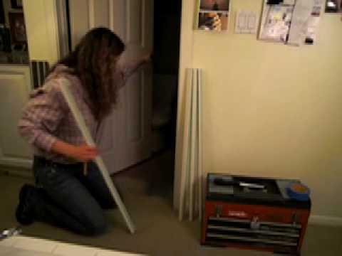 How to install DIY Door Gap Fix on a short Interior Door