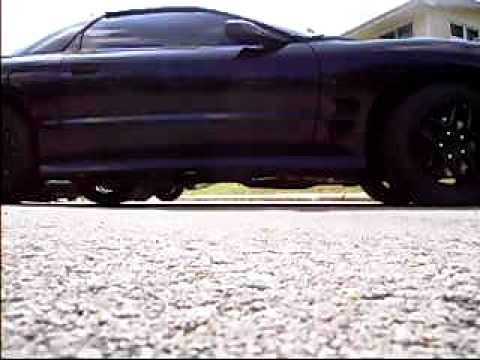 2000 Trans Am WS6 open cut out cold start Trex Cam