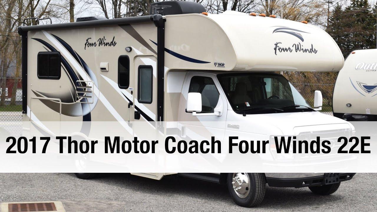 2017 thor motor coach four winds 22e class c youtube for Thor motor coach four winds