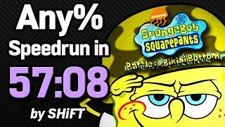 SpongeBob SquarePants: Battle for Bikini Bottom Any% Speedrun in 57:08 (WR on 3/11/2018)