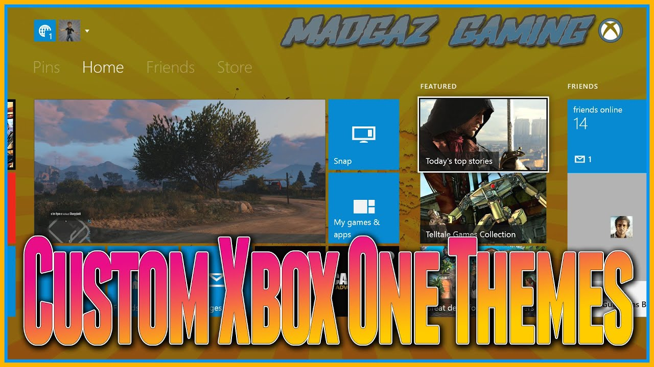 How to customize xbox one custom xbox one themes and backgrounds using dnla youtube