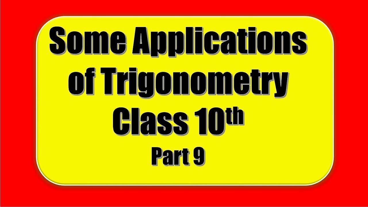 Some Applications of Trigonometry - PROBLEM SOLVING ASSESSMENT