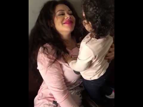 nadia buari and her daughter kissing