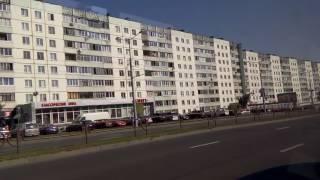 . Минск. Поездка по городу на автобусе
