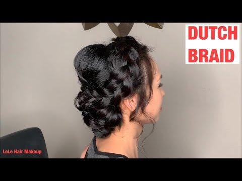 HOW TO DO DUTCH BRAID. Low Bun Hairstyle. Cách thắt bím nổi. Bới tóc cô dâu đẹp 2019