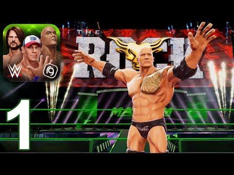 WWE MAYHEM Gameplay Walkthrough Part 1 - The Rock Season 1 (iOS Android)