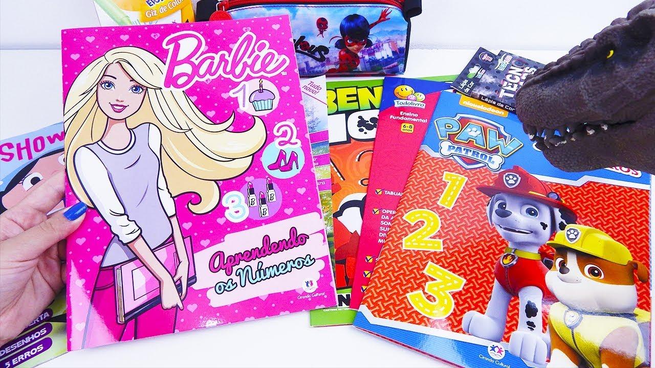 Livros De Atividade Da Barbie O Show Da Luna Patrulha Canina E