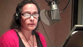 Contest Winner Nicole Quinn Recording American Gods Audio