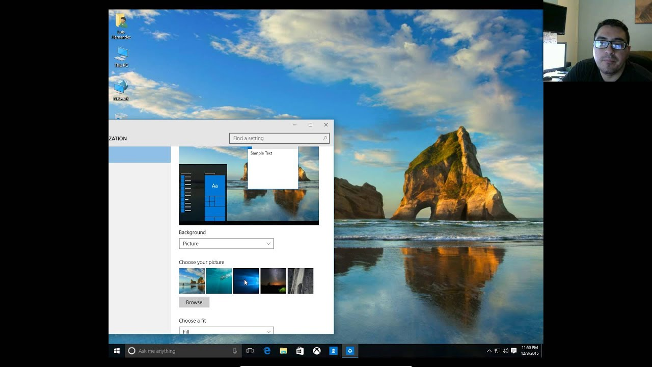 how to change your desktop background picture on windows 10