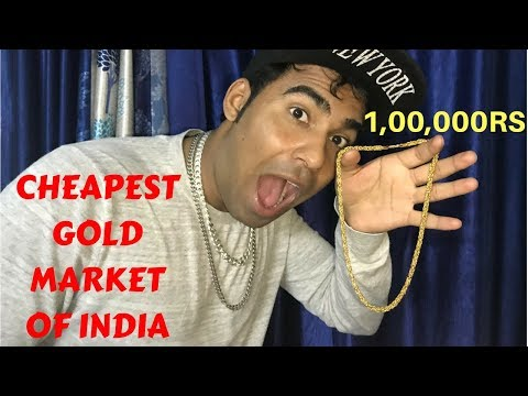 My 1Lakh Rs Gold Chain😱| Cheapest Gold Market