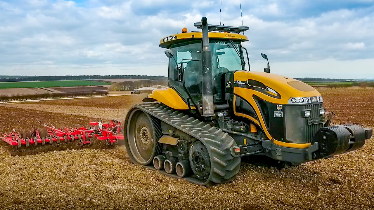 Cat Challenger Tractors : Cat challenger cultivating youtube