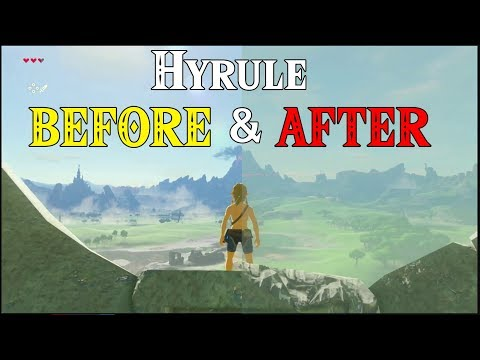 Hyrule BEFORE & AFTER! World Building in Zelda Breath of the Wild on Switch & Wii U